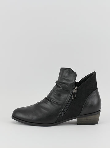 Craven Ladies Ankle Boot in Black by Step on Air