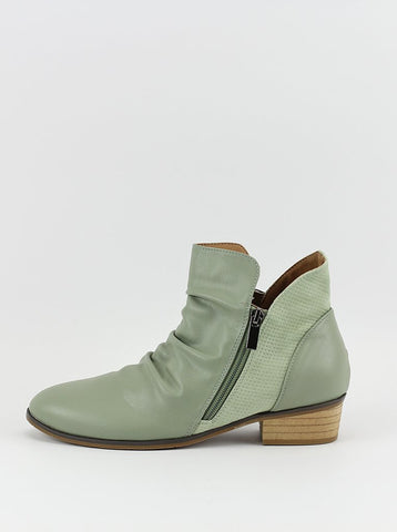 Craven Ladies Ankle Boot in Sage Green by Step on Air