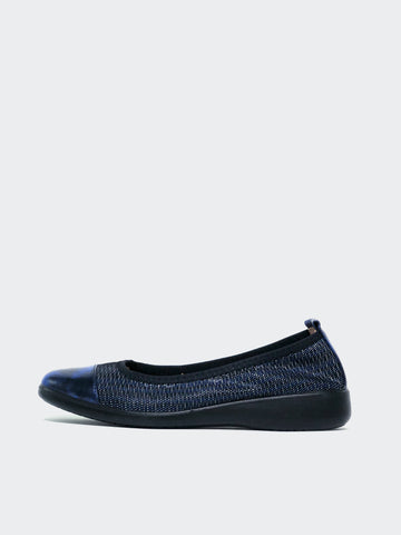 Indeed - Blue Ballet Flats by Inea