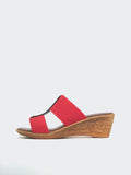Lissa - Coral Wedge Sandal by Barletta Shoes
