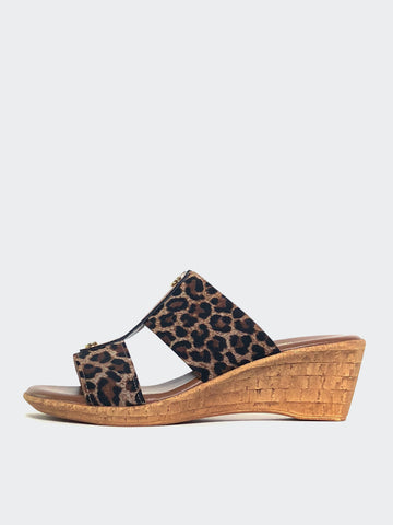 Lissa - Leopard Print Wedge Sandal by Barletta Shoes