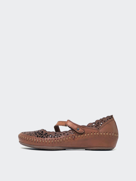 Malaga - Tan Italian Leather Comfort Shoes by Mago