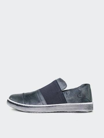 Margin - Grey Leather Lifestyle Shoe By Mago