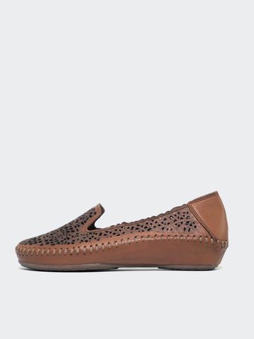 Miko - Tan Leather Casual Flat by Mago