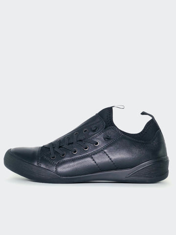 Tahlia - Black Leather Lifestyle Or Work Shoe By Mago