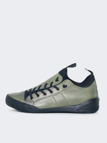 Tahlia - Olive Leather Lifestyle Or Work Shoe By Mago