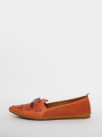 Whip - Coral Leather Comfort Flats by Mago
