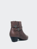 Alicia - Brown Leather Ankle Boot by MG Footwear