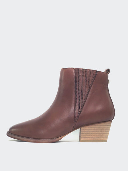 Arrive - Full Leather Brown Ankle Boot By MG Footwear