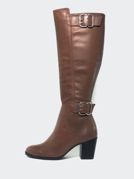 Butter - Tan Knee High Boot by MG Footwear