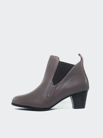 Cape - Taupe HeeledAnkle Boot by MG Footwear