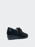 Chrissy - Black Flat Comfort Work Shoe by MG Footwear
