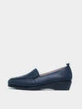 Dagmar - Flat Navy Work Loafer by MG Shoes