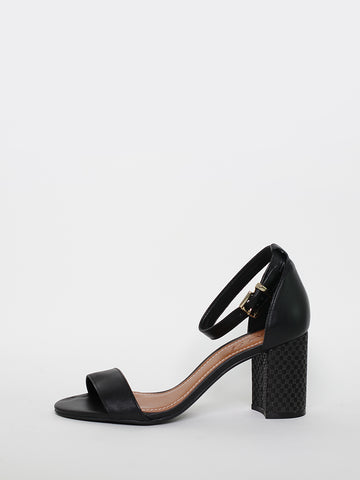 Posts - Black Block Heel By MG Footwear