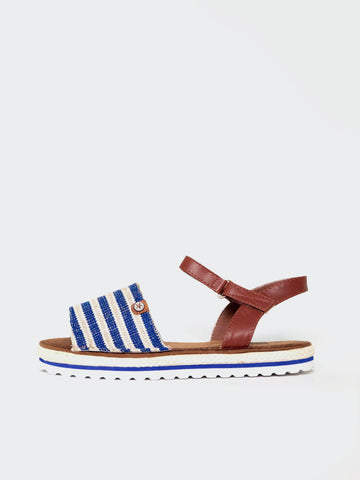 Barber - Blue Espadrille Flat Sandal by No Shoes