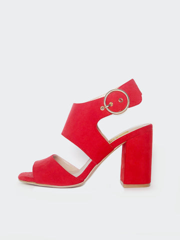Dress - Red Block Heel By No! Shoes