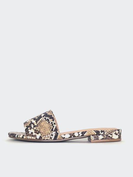 Flat - Snake Print Flat Slip On By No! Shoes