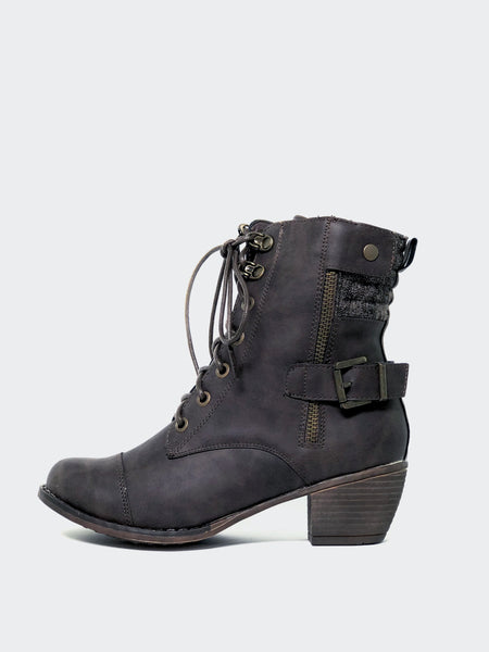 Larger - Brown Lace-Up Winter Boot By No! Shoes