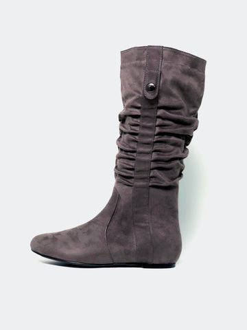 Lathe - Grey Casual Knee High Boot by No Shoes