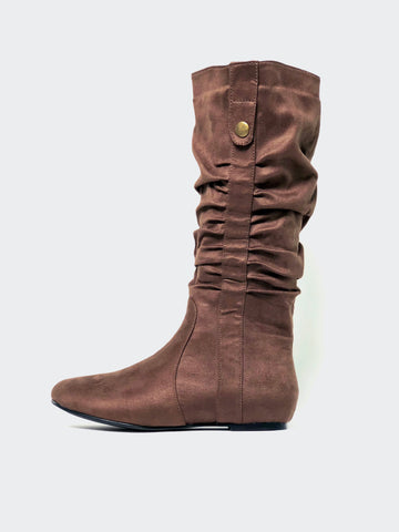 Lathe - Brown Casual Knee High Boot by No Shoes