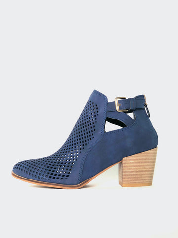 Nianco - Navy Stylish Ankle Boot By No! Shoes