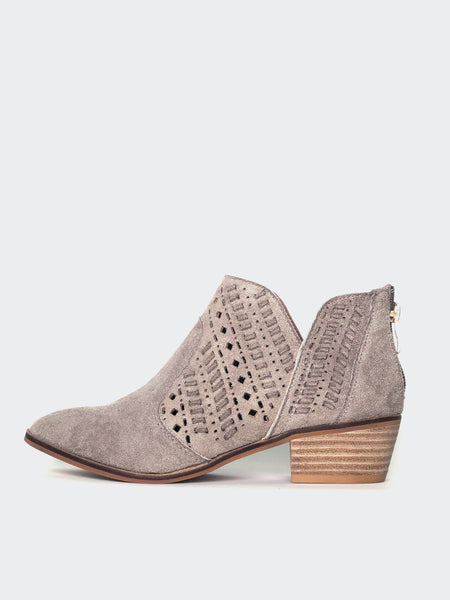 Nicely - Grey Stylish Ankle Boot By No! Shoes