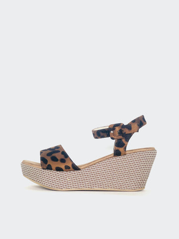 Plank - Leopard Print Platform Heel By No! Shoes