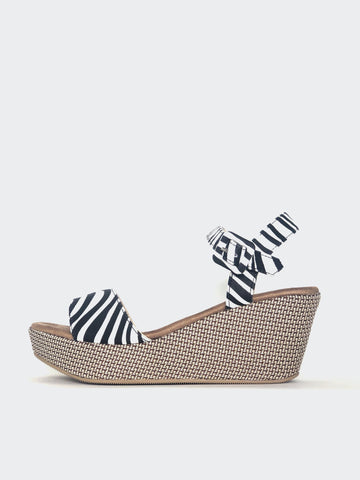 Plank - Zebra Print Platform Heel By No! Shoes
