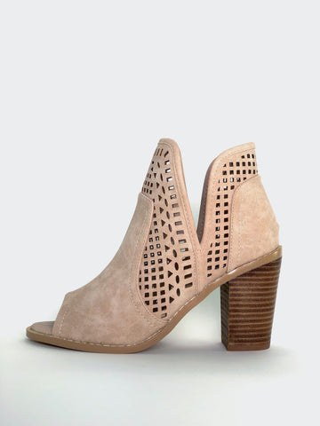 Promise - Beige Open Toe Ankle Boot by No Shoes