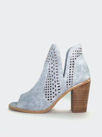 Promise - Grey Open Toe Ankle Boot by No Shoes