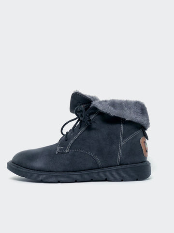 Retro - Black Warm Winter Shoe By No! Shoes