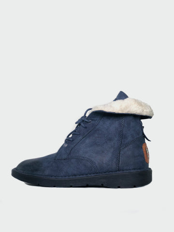 Retro - Navy Warm Winter Shoe By No! Shoes
