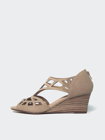 Total - Stone Dress Wedge Sandal by No Shoes