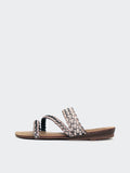 Weave -Grey Summer Sandal by No Shoes