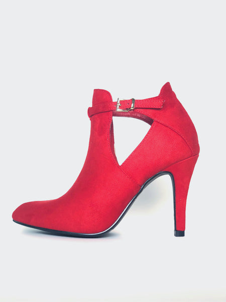 Xcite - Red Winter Fashion Ankle Boot By No! Shoes