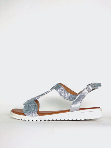 Zulu - Silver Comfort Sandal by Step on Air