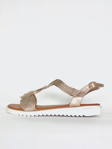 Zulu - Rose Gold Comfort Sandal by Step on Air
