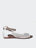 Amigo II White Comfort Sandal by Step on Air
