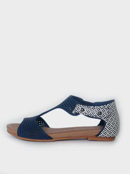 New Avery - Navy Comfort Sandal by Step On Air