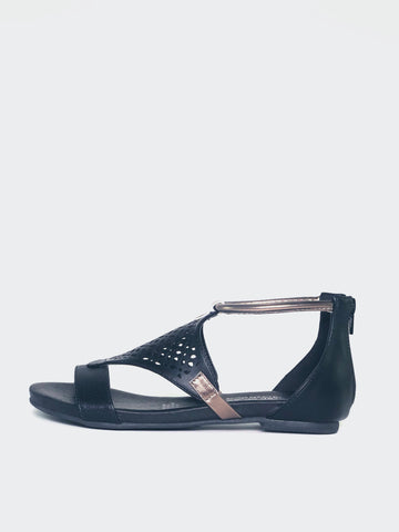 Alicia - Black Comfort Summer Sandal By Step On Air