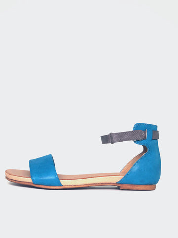 Aspley - Comfortable Blue Summer Sandal By Step On Air