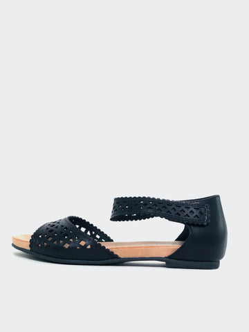 Astra - Black Comfort Summer Sandal By Step On Air