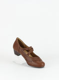 Asco - Dark Tan leather low heel comfort shoes by Step on Air