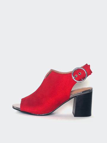 Bailey - Red Comfortable Ankle Boot by Step On Air