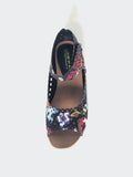 Bally - Black Floral Comfortable Sandal By Step On Air