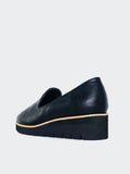Camper - Black Comfort Platform Wedge By Step On Air