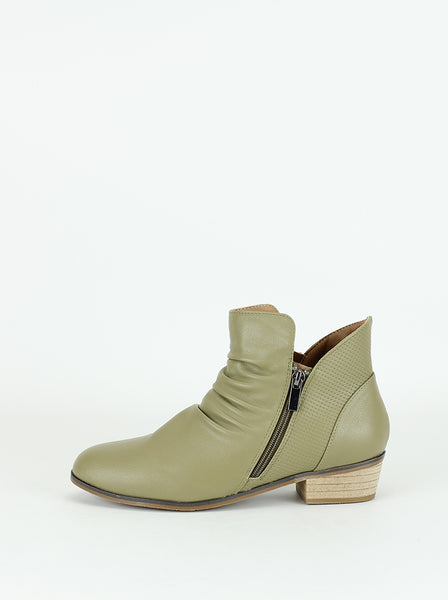 Craven - Comfortable Ladies Ankle Boot in Olive By Step On Air