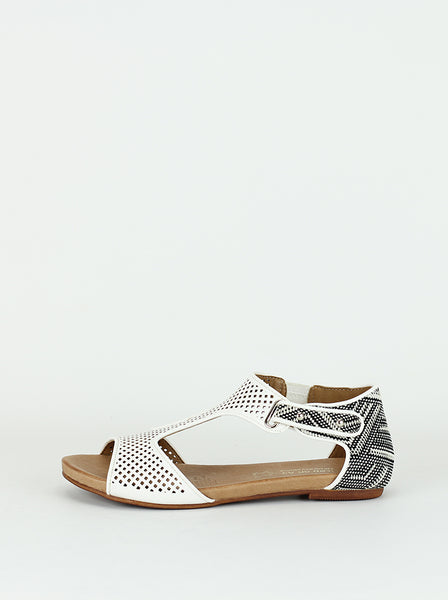 Cuff - Ladies comfort sandals in white by Step  on Air