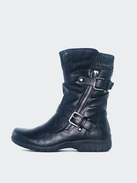 Echo - Black Comfort Winter Boot By Step On Air