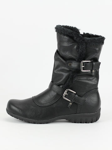 Eskimo Black Comfort Winter Boot by Step on Air